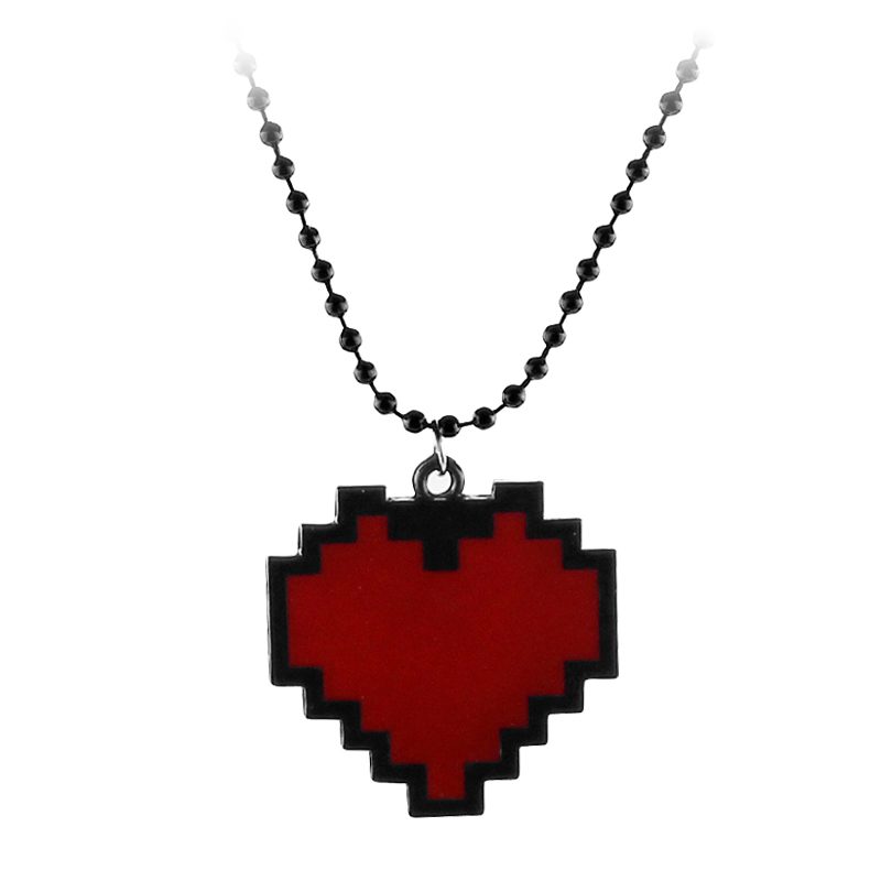Fashion Necklaces Game Undertale Papyrus Sans Frisk Bravery LOVE Heart Necklace Pendant Link Chain Women Jewelry Accessories(China)