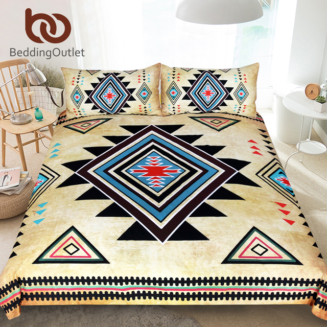 BeddingOutlet Geometrico Stampato Set di Biancheria Da Letto Queen Size Duvet Co