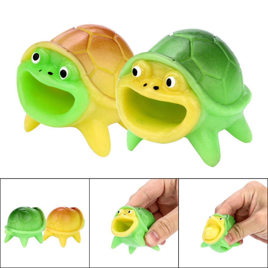 CCCZQ toy 5CM Funny Tortoise Stress Relief Toy Decompression Popping Out Decor Squeeze Toy MAY 23