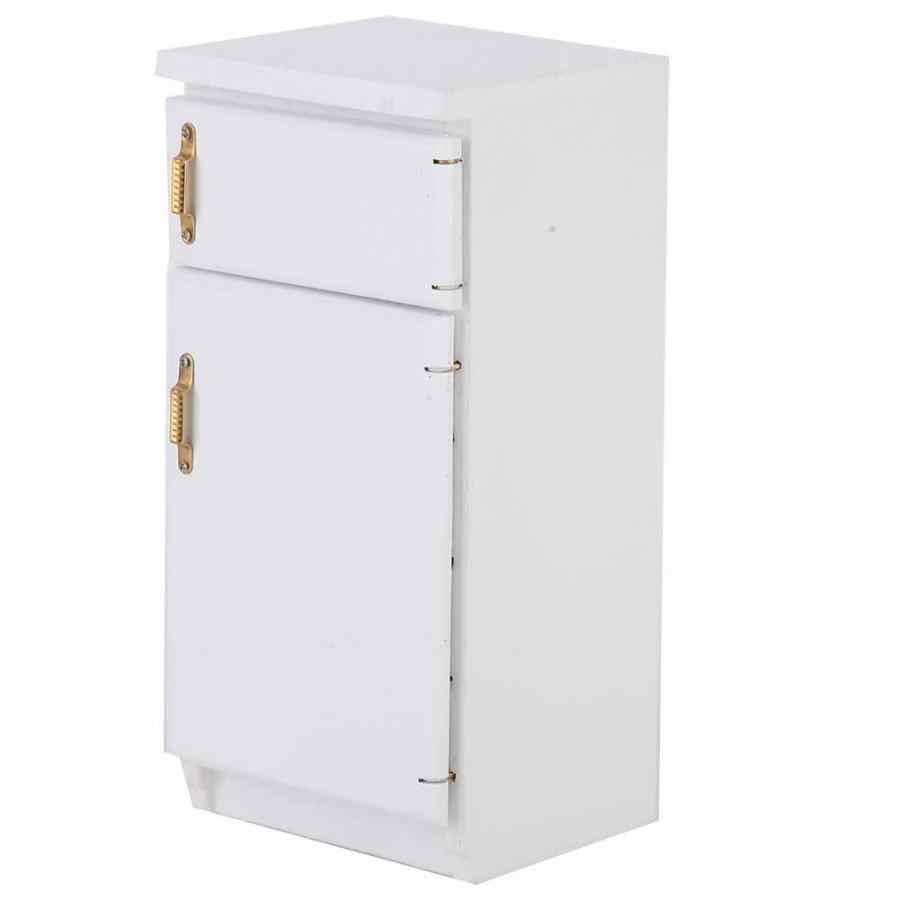 1:12 Кукольный домик белая мини игрушка на холодильник отличная мебель модель кухонный аксессуар для детей