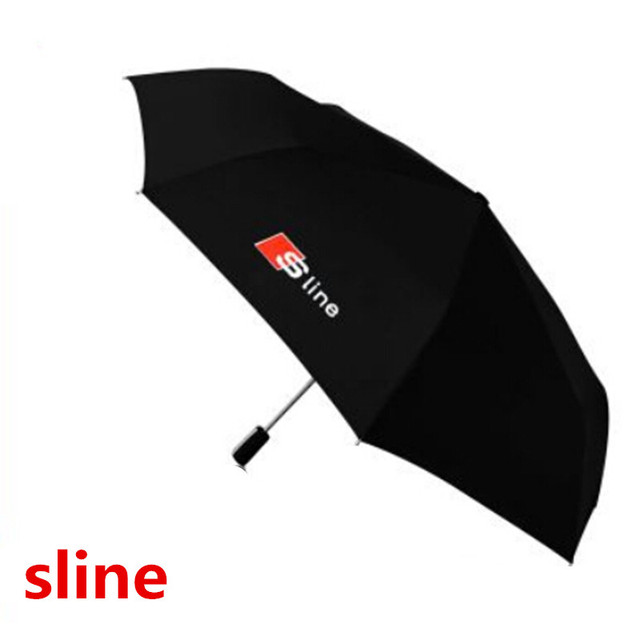 Audi genuína alça de couro da marca Japonesa de alta qualidade sun chuva Umbrella 3 Fold Anti UV Francês Francês guarda-chuva real