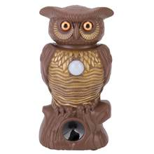 Owl Pest Animal Ultrasonic Owl Repeller with LED Light Repelling in Yard Garden Moving Bird Cat Dog Mouse Animals Control Tools(China)