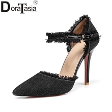 DoraTasia 2018 Large Size 31-47 Women Shoes Woman Elegant Comfotable Thin High Heels Summer Party Wedding Pumps Woman