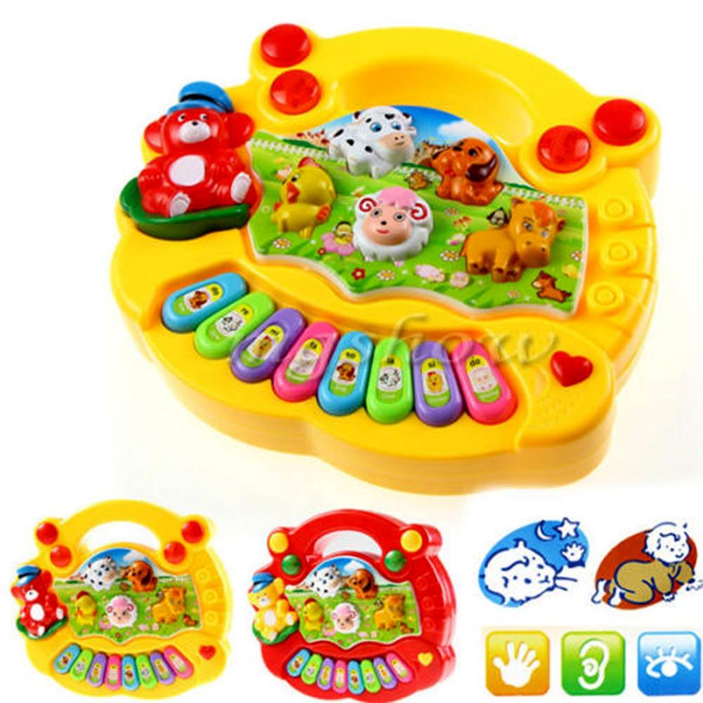 Music Songs Smart Toys Animal Farm Piano Music Toy Popular Kid Colorful Developmental Brinquedo Educativo Birthday Gift