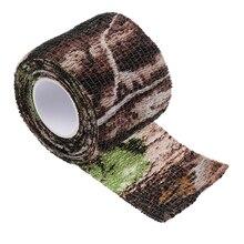 Cinta elástica de tela de camuflaje para ayuda de ocultación para prismáticos, antorchas, senderismo, campamento y caza, 220x5CM