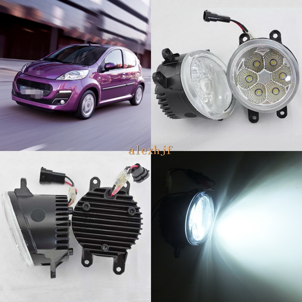 July King 18 W 6500 K 6 LED s LED feux de jour LED boîtier antibrouillard pour Peugeot 107 2012-2015, plus de 1260LM/pc