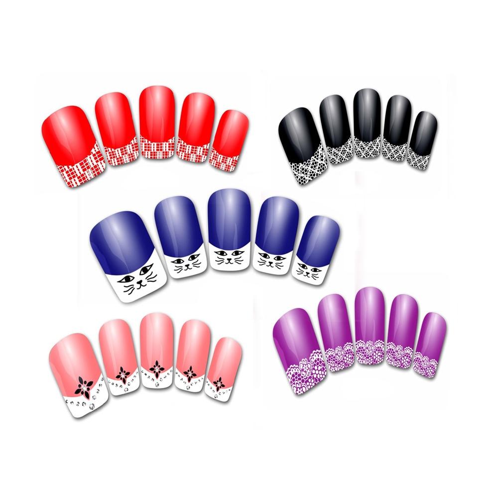 2016 NEW Fashion  Nail Art Stickers Woman 3D Transfer Lace Design Manicure Nail Polish  Tips pegatinas nail free shipping