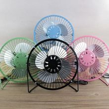 New USB Desk Fan Metal Mute Office Home Car Travel Personal Mini Table Portable Outdoor 4 and 6 Optional Hot