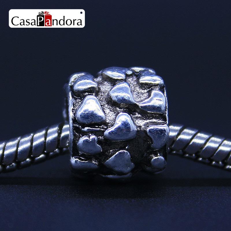 88ca1868b45 CasaPandora Moda Prata-Alívio colorido Coração Fit Pulseira Charme Europeu  Jóias DIY Fazendo