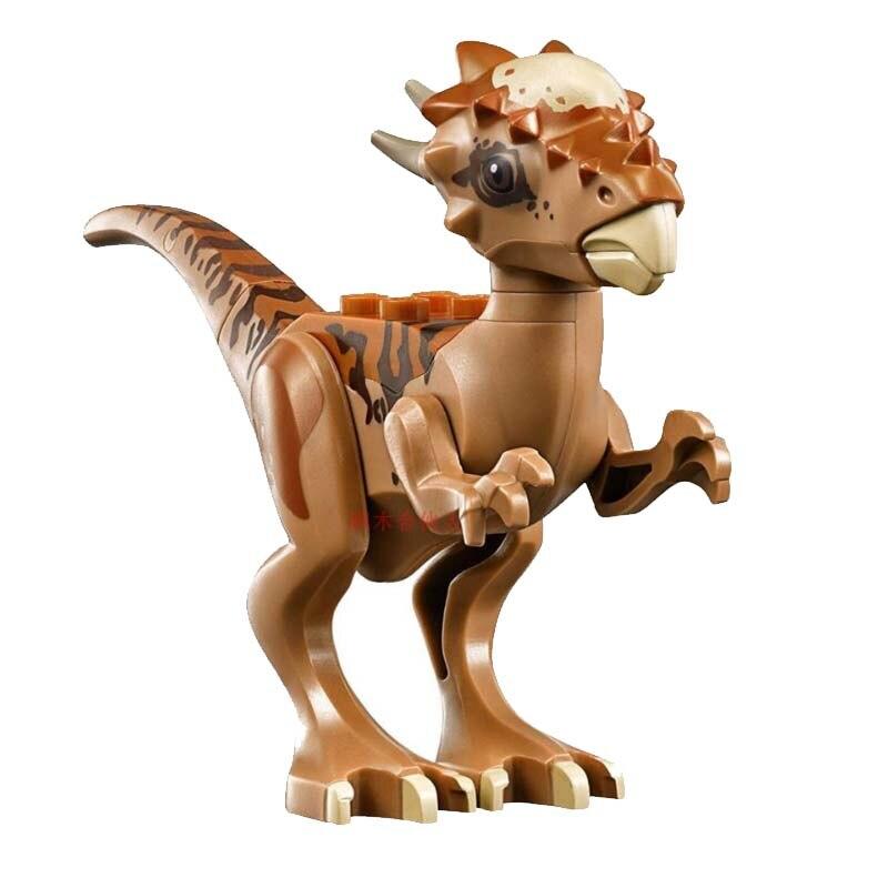 Legoing Jurassic World Dinosauri Tyrannosaurus Rex Triceratops Pterosauria Blocchi di Costruzione Giocattoli Per I Bambini Legoings Dinosauro