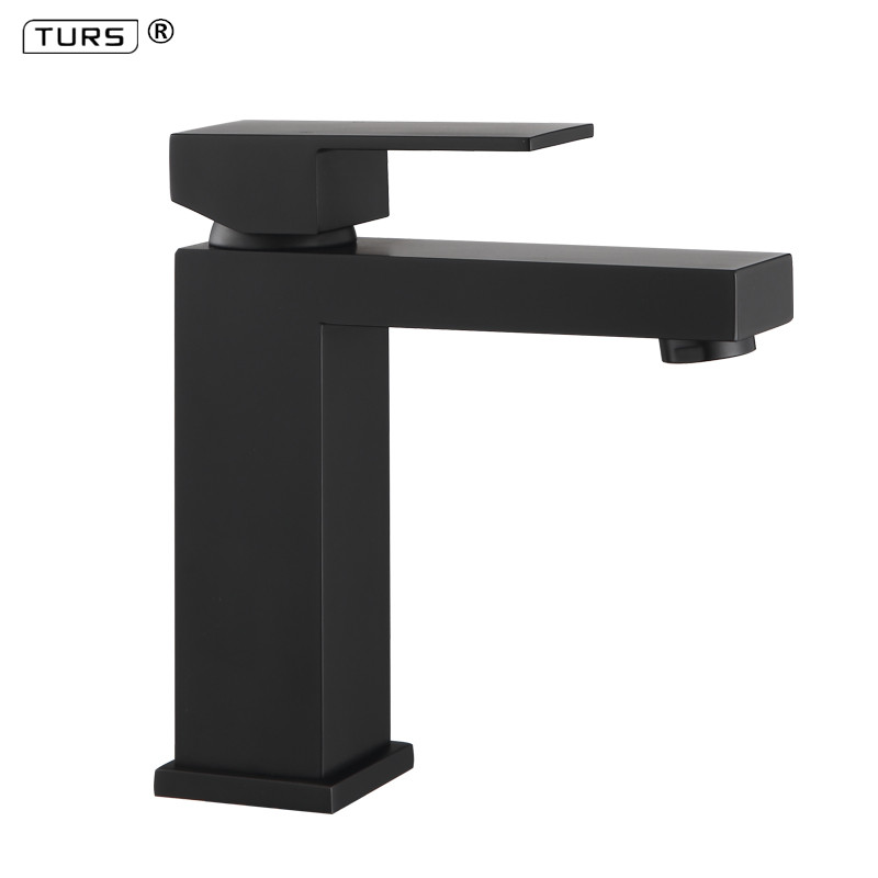 High Quality Bathroom Faucet Black Solid Brass Bathroom Solid Basin Faucet Cold and Hot Water Mixer Single Handle Tap micoe hot and cold water basin faucet mixer single handle single hole modern style chrome tap square multi function m hc203