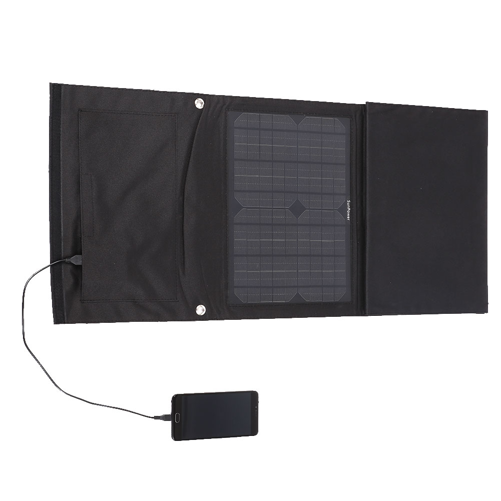 18V 40W DC5V 2.1A Monocrystalline Solar Panel Module Car Portable Power Battery Charger foldable