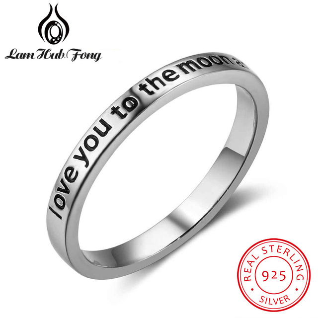 Hot sale I Love You To The Moon And Back 925 Sterling Silver Rings for Women Vin