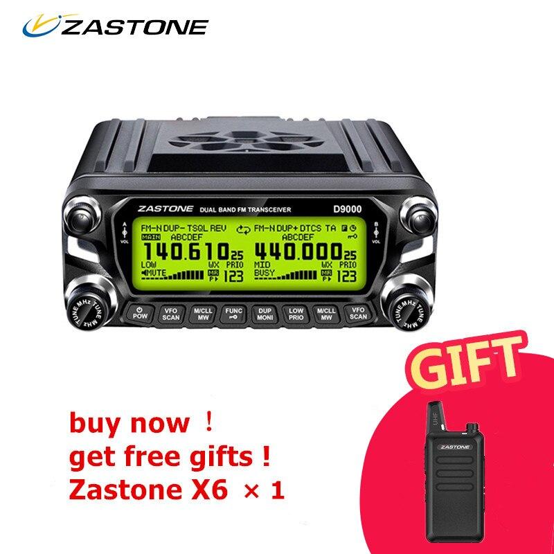 ZASTONE ZT-D9000 Auto Walkie Talkie 50 km Stazione Radio Auto 50 w UHF/VHF 136-174/400-520 mhz A due Vie di Comunicazione Radio Trasmettitore