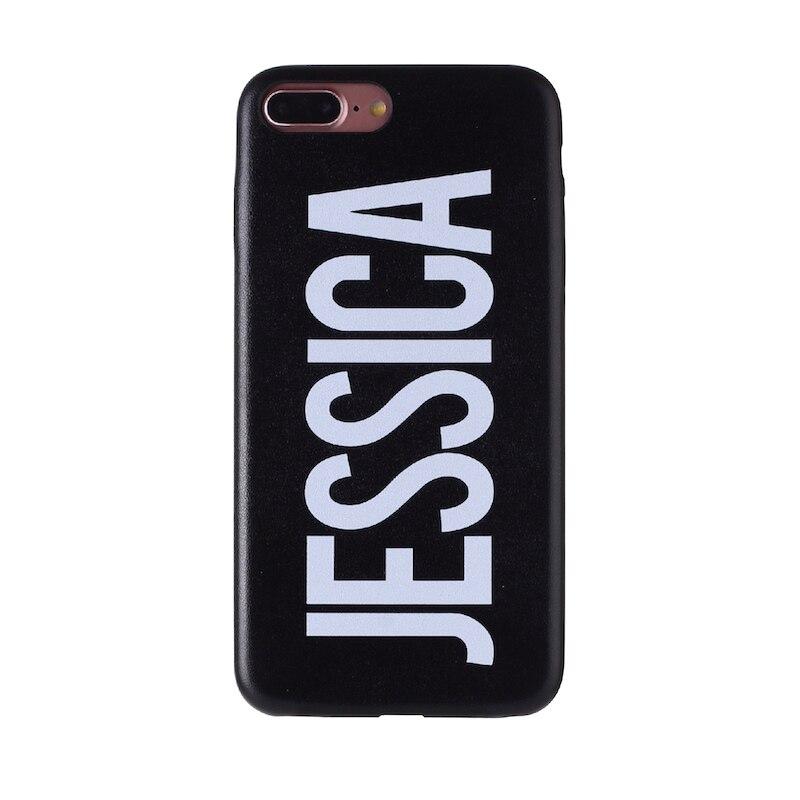 Настоящая кожа, роскошный, смелый, на заказ, с именем, текст, начальный чехол для телефона, чехол, Coque Funda для iPhone 11 Pro X 6S XS Max 7 7Plus 8Plus - Цвет: Font 2-Black Leather