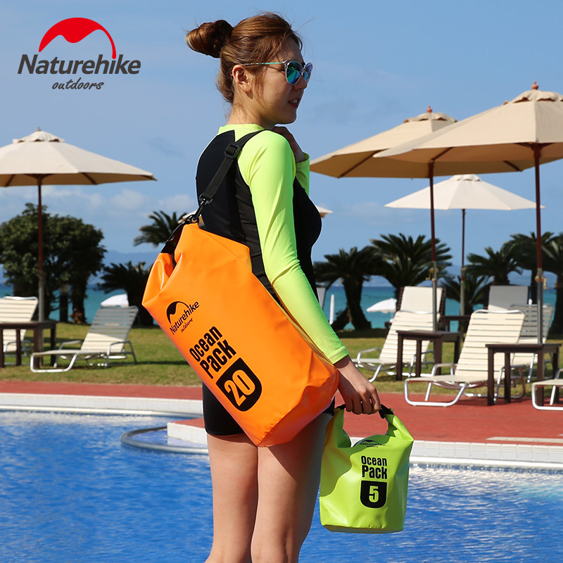 Naturehike viaje portátil al aire libre impermeable bolsa de buceo bolsa  seca rafting bolsa ropa organizador océano paquete hombres Bolsas de viaje b4243187368a