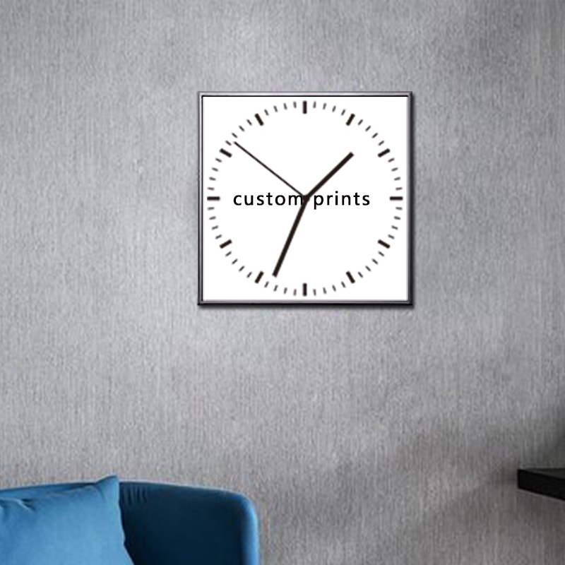 ที่กำหนดเองผ้าใบภาพวาดนาฬิกาพิมพ์นาฬิกากำแพงตกแต่งบ้าน-ใน การระบายสีและการประดิษฐ์ตัวอักษร จาก บ้านและสวน บน   1