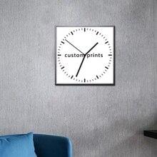 Пользовательские холст картины с часами отпечатки на холсте часы Настенные Home Decor