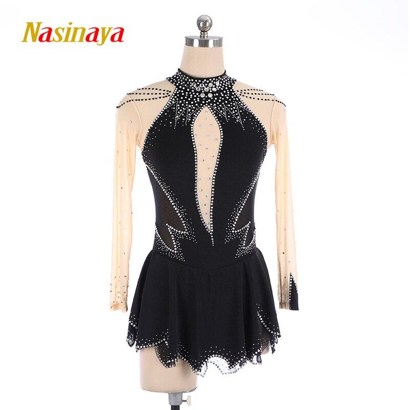 Nasinaya Figure Skating Dress Customized Competition Ice Skating Skirt for Girl Women Kids Patinaje Gymnastics Performance 236