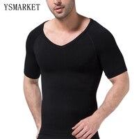 New Men Chest Shaper Bodybuilding Slimming Belly Abdomen Tummy Fat Burn Posture Corrector Compression Shirt Corset