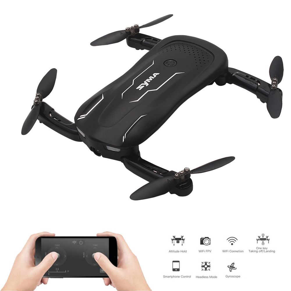 Syma Z1 RC mini Drone with Camera Altitude Hold Selfie Drone Follow me Mode WiFi FPV Quadcopter Drones RC Helicopter VS H62 E58 syma x21w mini drone with hd camera wifi fpv helicopter 2 4ghz 4ch 4aixs gyro altitude hold mode rc quadcopter mini drone
