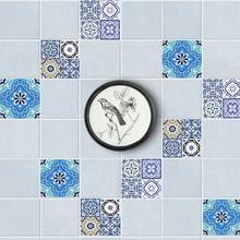 20pcs/set DIY Tile Sticker Floor Stickers Anti-Slip Removable Self-Adhesive Waterproof Wall Sticker Vintage Style Flower Sticker flower patchwork ceramic tile sticker 5pcs