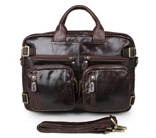 Free Shipping JMD Genuine Leather Applied Style Men Business Bag Chocolate Backpacks # 7026Q-1 цена