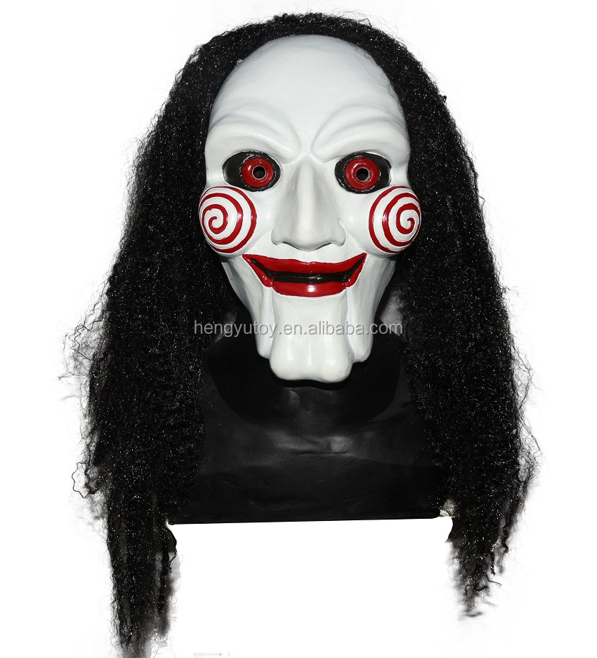 BRAND NEW Scary Movie Bloodthirsty Latex D3304 SAW Jigsaw Mask image