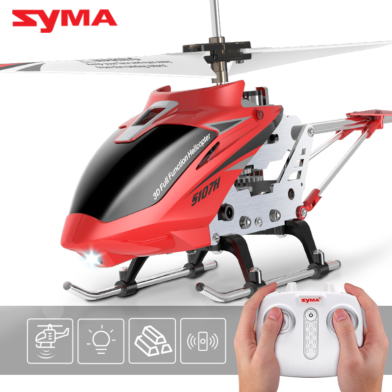 S107H 3.5CH RC Helicopter RTF Remote control RC toy Gift with Gyro Single Propeller original Box package red yellow color