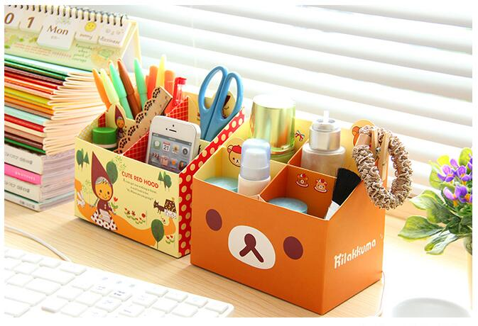 Diy pen holders mini paper boxes creative four desktop stationery jewelry box in pen holders - Diy projects with a cardboard box boundless creativity ...