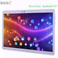 2017 nova 10 polegada Tablet Android Tablet PC Octa Núcleo 4G Tablet pcs 64 GB ROM telefonema tablet WI-FI GPS tampa de Metal bluetooth