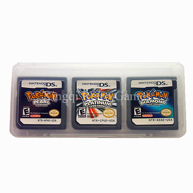 3 PCS 1 Lot Nintendo NDS Pokemon Compilation Video Game Cartridge Console Card US Version