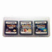 3 ШТ./1 Лот Nintendo NDS Pokemon Компиляции Видео Игры Картридж Консоли Карта США Версия
