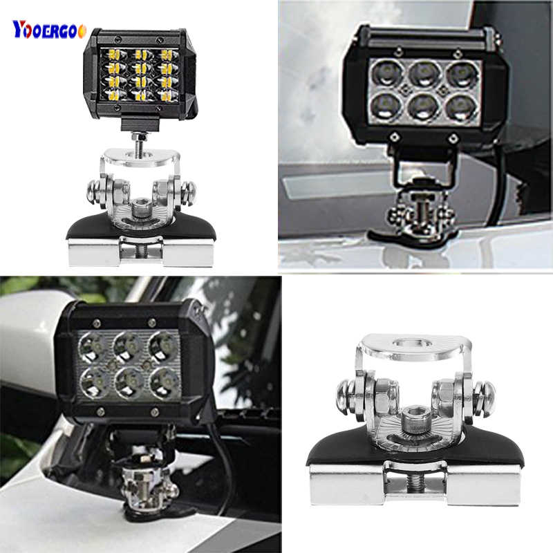 Hot sale Mounting Brackets For Car Led Working Lights Clips Holder Install On Engine Cover Hood SUV Offroad Car Truck ATV