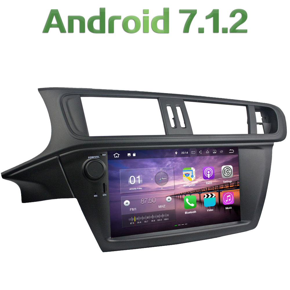 Android 7.1.2 Quad Core 2G RAM Car Multimedia system Radio touch screen GPS for Citroen C3 2005 2006 2007 2008 2009 2010 2011
