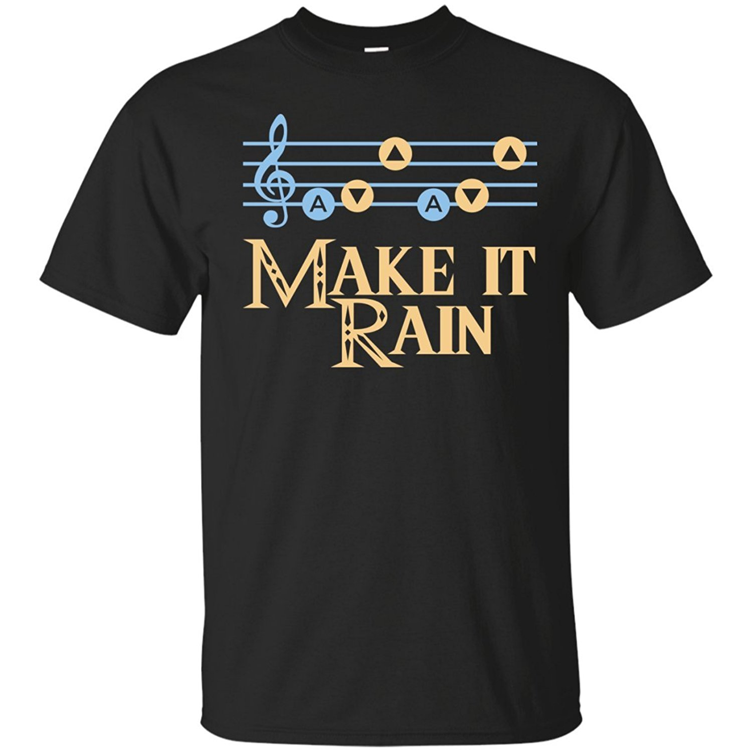 Make It Rain Song of Stroms No Sword T-Shirt Interesting Classic Tops Tee Shirts Men T Shirt Lowest Price 100 % Cotton