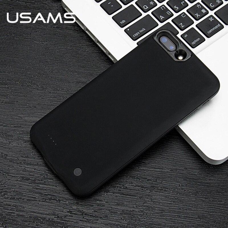 Цена за Для iPhone 7 7 Plus Мощность банк чехол для телефона USAMS Батарея Ultra Slim Внешний блок резервного Портативный зарядное устройство Case 2500 и 3650 мАч