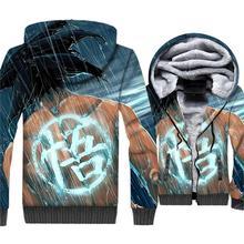 2018 New Streetwear 3D Hoodies Anime Dragon Ball Z Jacket Autumn Winter Fleece Thick Sweatshirt For Men Hip Hop Hoody