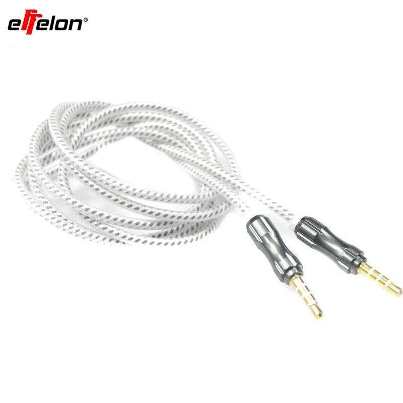 Effelon 4 Pole 3.5mm Male headphone Jack Metal Audio Cable