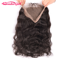 360 Lace Frontal Closure Pre Plucked With Baby Hair Peruvian Body Wave 360 Frontal Remy Human Hair Bundles Wonder girl