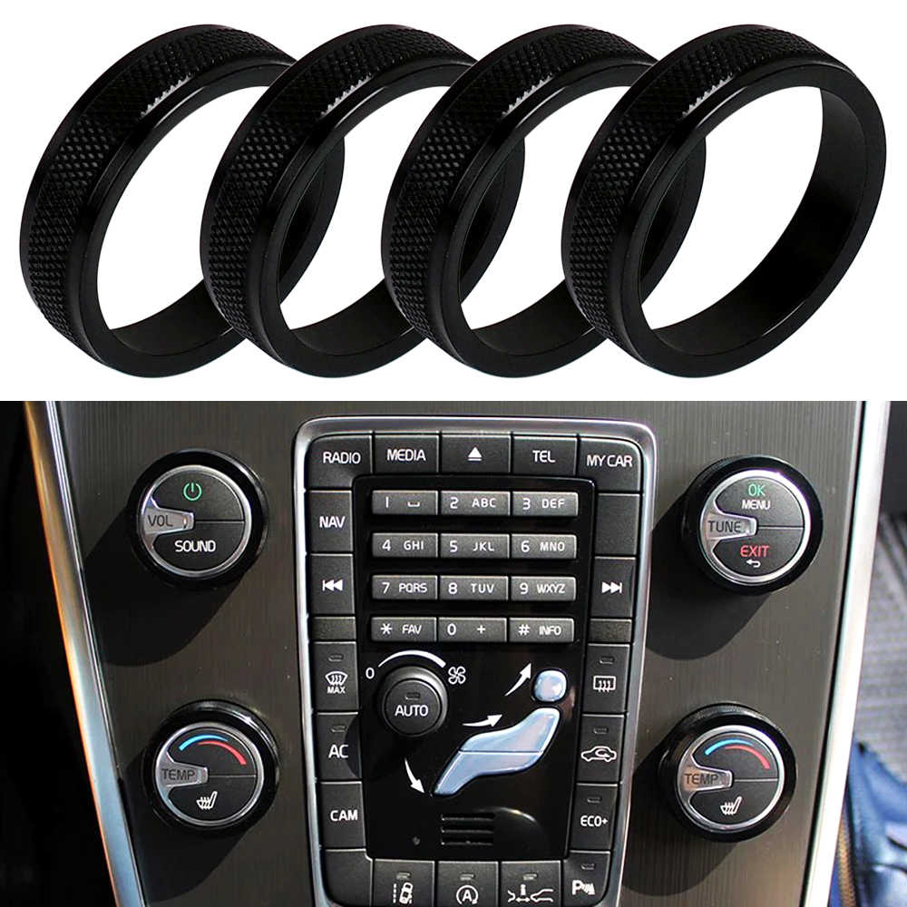 Detail Feedback Questions About 2pcs Car Door Flash Warning Strobe Warn The Heat In An Automobile 4pcs Air Conditioning Control Switch Ac Knob Ring For Volvo Xc60 S60 V60 S80