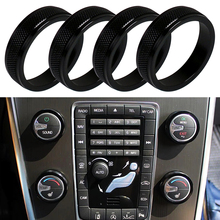цена на 4pcs Car Air Conditioning Heat Control Switch AC Knob Ring for Volvo XC60 S60 V60 S80 V40 S60 Aluminum Alloy Cover