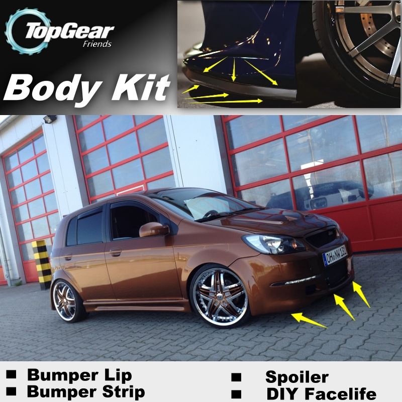 Zwierig Voor Hyundai Getz Prime Klik Tb Brisa Inokom Bumper Lip/front Spoiler Deflector Voor Auto Tuning View/body Kit/strip Rok