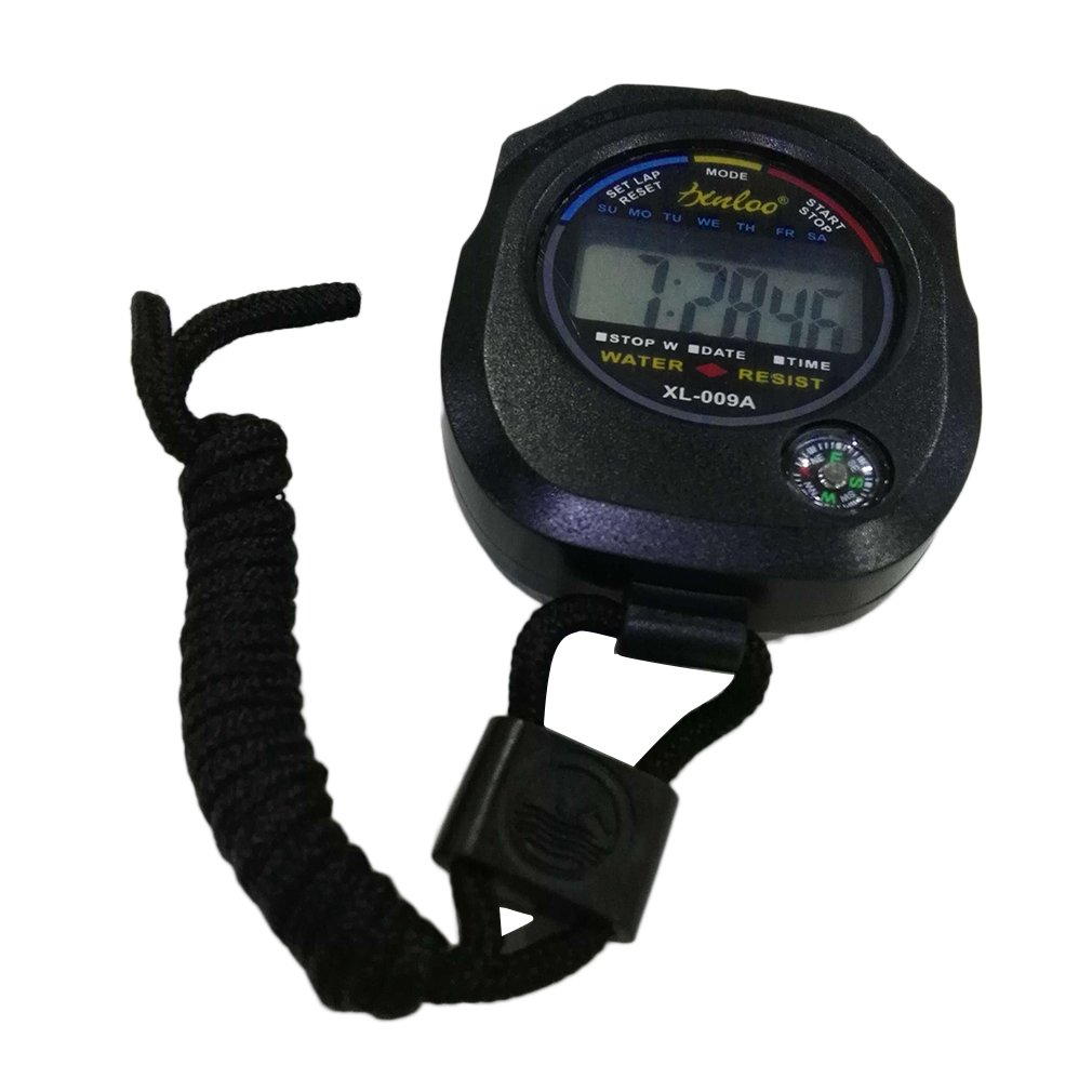 Sports Professional Handheld Digital Watch LCD Sports Hot Selling Stopwatch Chronograph Counter Timer With Strap