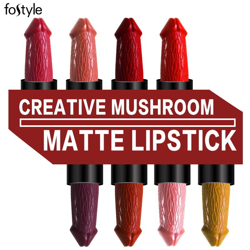 Penis Head Brown Lip Stick Nude Red Yellow Velvet Lipsticks beauty Cosmetics lipstick Matte Lips Makeup Kissproof lipstick Batom
