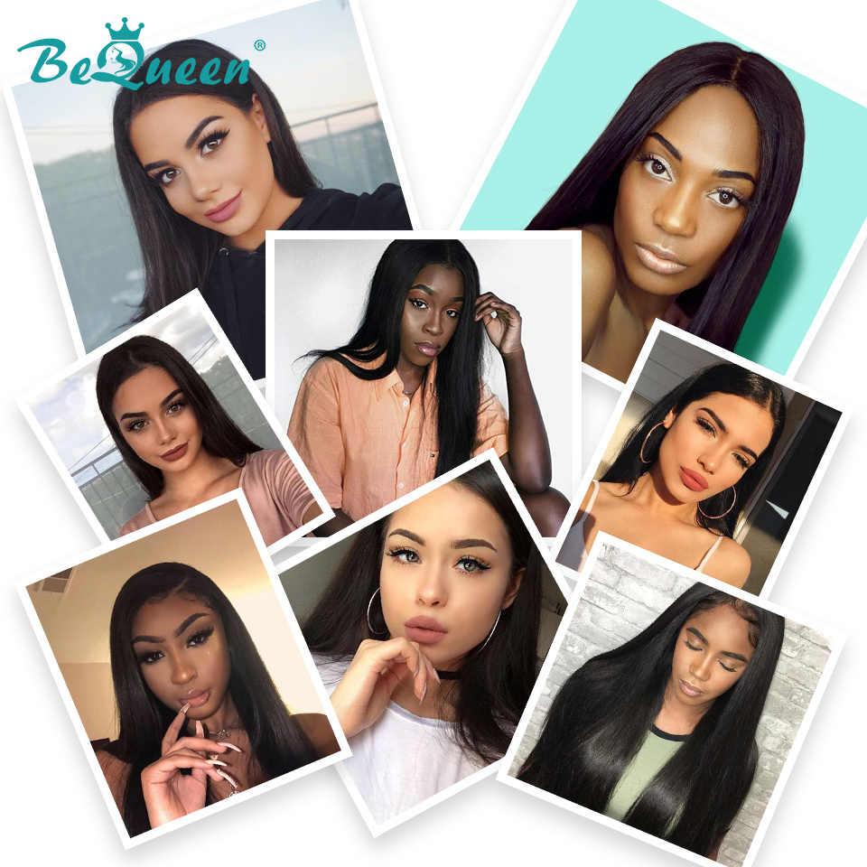 Bequeen Peruaanse Haar Weave 4 Bundels Met Frontale Rechte Golf Menselijk Haar Bundels Met Frontale Ruwe Virgin Human Hair Extension