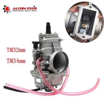 Alconstar- 28 30 32 34mm Carburetor Carb TM28 TM30 TM32 TM34 Flat Slide Carburetor Spigot for Mikuni for Honda for Kawasaki KTM