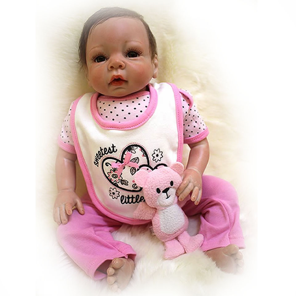 20 Silicone Reborn Baby with Realistic Hair Looks So Truly Babies Doll 50 cm Cloth Body Reborn Boneca Toy For Children Gifts ...
