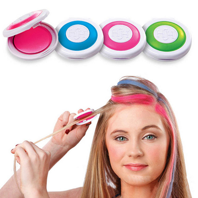 4 Colors Hair Dye Set Temporary Hair Chalk Powder Salon Hair Color