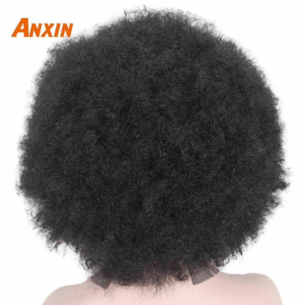 Afro Clown Cosplay Wigs for Women Black Cap Big Top Football Fans Wigs Halloween Adults Unisex Synthetic Hair Black Men Curly